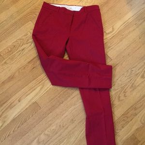 Jcrew red Maddie pants